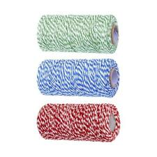 100m Dual Color Cotton Bakers Twine Rope Gift Wrap Outdoor DIY Accessories