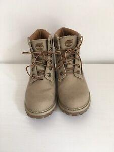 Ladies Timberland stone canvas boots size UK 4