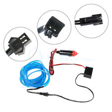 3M Blau EL-Wire 12V Auto Innere Dekor Fluoreszierend Kabel Streifen Licht Band