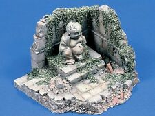 Verlinden 1/35 Vietnamese Temple Section Ruin with Buddha Statue [Plaster] 366