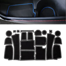 For Ford Edge 2015-2018 Non-slip Door Slot Pad Cup Holder Rubber Mats 20Pcs Blue