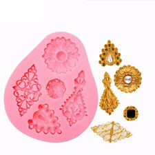 5 Shape Diamonds Cake Mold Vintage Diamond Jewelry 3D Silicone Cake Decor Mould