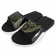 NEW Nike Air Jordan Hydro 7 Men's Slides Black Metallic Gold Sandals AA2517-021