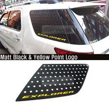 C Pillar Window Glass Sports Plate Molding Yellow Logo For FORD 2011-16 Explorer
