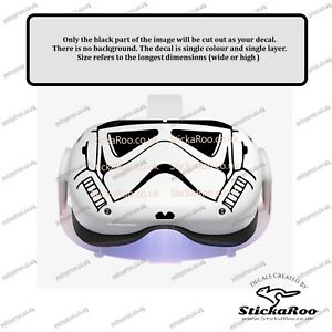 Stormtrooper visor vinyl sticker for the Oculus Quest 2. FREE P&P