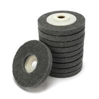 10Pc 4'' Nylon Fiber Polishing Buffing Wheel Sanding Disc Polisher Abrasive Tool
