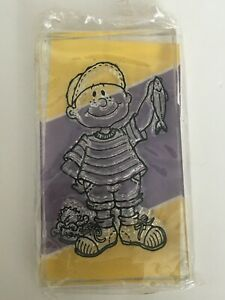 Provo Craft Clear Impressions Acrylic Stamps Little Boy Fishing Can of Worms
