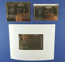 Spaziale Space 1969 Sharjah Chaffee ORO 543 A/B + blocco 51 IN FOLDER mnh/766