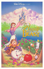 BEAUTY AND THE BEAST (1991) ORIGINAL 18 x 27 MINI MOVIE POSTER  -  ROLLED