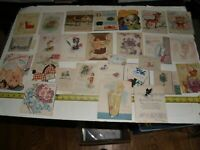 Lot of 27 Vintage birthday cards - 1920s through 1950s