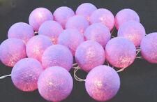 Lavender 6cm Ball LED Night Light Lantern String Girl Decor Party Event Batt pwr