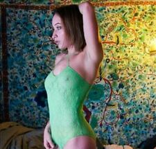 Vintage Bodysuit Green Lace Originals BNWT 1980s New Old Stock