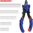 WORKPRO 10''Manual Rivet Gun Heavy Duty Riveter  W/3 Nosepieces and 100PC Rivets