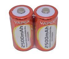 2x Alta Capacidad célula C Instancia Bateria 2500mah vapextech