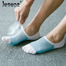 Mesh Breathable Short Socks Stripe Non-slip Silicone Sock Invisible Low 5 Pairs