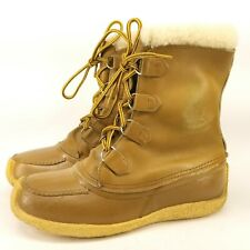 Sorel Chugalug Winter Boots Leather & Crepe Rubber Sole Mukluks Sz 10
