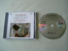 PENDERECKI Orchestral Works Vol. 2: Symphonies Nos. 1 & 5 Antoni Wit CD album