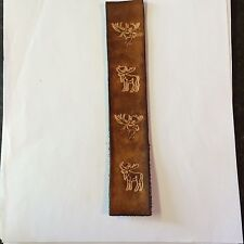 Handmade Leather Bookmark With Moose