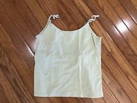 FRENCH DRESSING Women's Tank Top Cami Built in Bra Stretch Size M