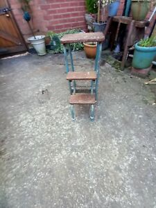 Vintage Folding Steps / Stool/Plant Stand