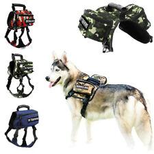 Pet Canine Saddle Bag Reflective Outdoor Adjustable Service Dog Harness Backpack