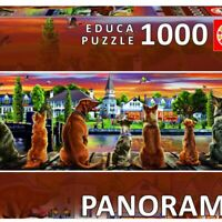 Dogs on the Quay Panoramic 1000 Piece Jigsaw Puzzle 340 x 960mm (PLG17689)