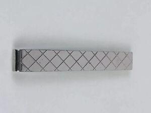 Swank Vintage Sterling Silver Patterned Tie Bar Clip