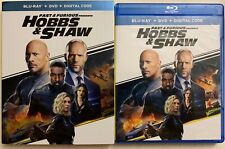 FAST & FURIOUS PRESENTS HOBBS & SHAW BLU RAY DVD 2 DISC SET + SLIPCOVER SLEEVE