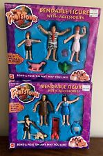 The Flintstones Bendable Figures w/ Accessories Fred Wilma Pebbles Barney Betty