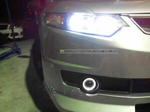 accord euro cu2 mugen style Front bar+angel eye fog lamp- led bumper grill body