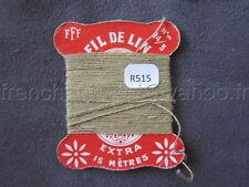 R515 Mercerie vintage ancienne carte FIL DE LIN N°24/3 FFF beige sable Thread