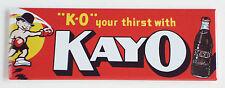 Kayo Chocolate Soda FRIDGE MAGNET (1.5 x 4.5 inches) sign bottle boxing label