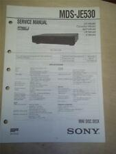 Sony Service Manual~MDS-JE530 MiniDisc Deck~Original~Repair