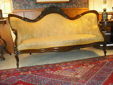 Victorian ROSEWOOD Belter Laminated Rosalie w/o grapes sofa  $$ NEW LOW PRICE