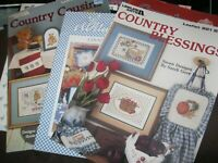 Craft cross-stitch pattern booklets  - (10) with country theme