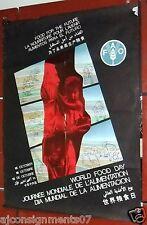 World Food Day, يوم العالمي للأغذية FAO 16 october Original Poster 1990s