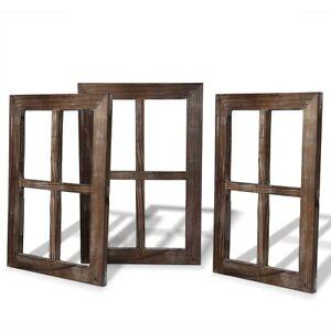 Barn Wood Frames Wall Decor Rustic Western Set 3 Home Wedding Farmhouse Gift New