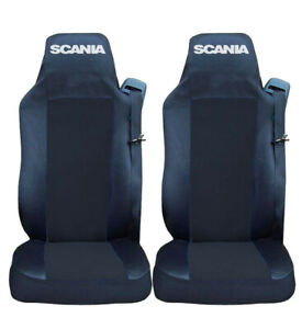 Set of 2 Seat Covers Black for SCANIA R P G Series Truck Tailored Lorry HGV