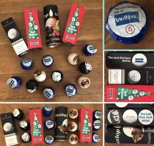 12 Vintage Golf Balls Jack Nicklaus Uniroyal & Dunlop 65 Christmas Sleeves