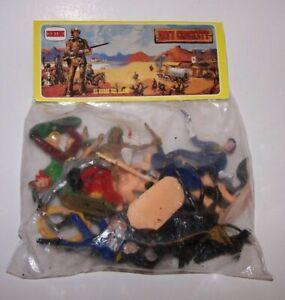 Davy Crockett Soldiers & Indians Playset Comansi El Heroe Del Alamo Spain NOS