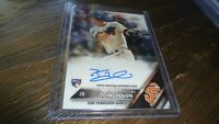 2016 TOPPS CHROME RA-KT KELBY TOMLINSON  AUTOGRAPHED BASEBALL CARD