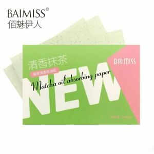 100X Face Oil Absorbing Paper Matcha Breathable Soft Oil Control Blotting Sheets