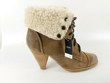 Next Urban Vintage Brown Suede Burnished Leather Ankle Boots Uk 5 Eu 38 New