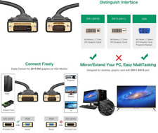 UGREEN DVI To VGA , DVI 24+5 DVI-I Dual Link To VGA Male To Male Digital Video
