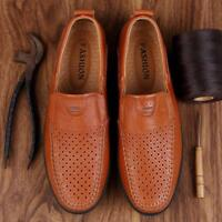 Men's Driving Shoe Flats Loafers Moccasins Casual shoes Perforated leather shoes