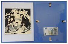 HITLER caricatura Efimov, Russia URSS Comunismo: quadro cornice vetro cm 30x24
