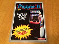 PEPPER II - for COLECOVISION Video Game System - FRESH CASE - NEW & SEALED - NOS