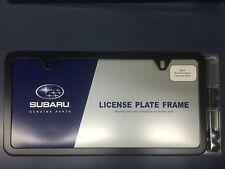 Geniune Subaru Slimline License Plate Frame Polished MATTE BLACK OEM SOA342L105