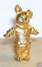 CHARM CONTE PETIT OURS OURSON BRUN FEVE METAL DORE 3D N°1