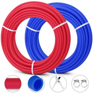 1/2 x 100ft 2Rolls Pex Tubing non-Barrier Radiant Water Plumbing Pipe Pex-B